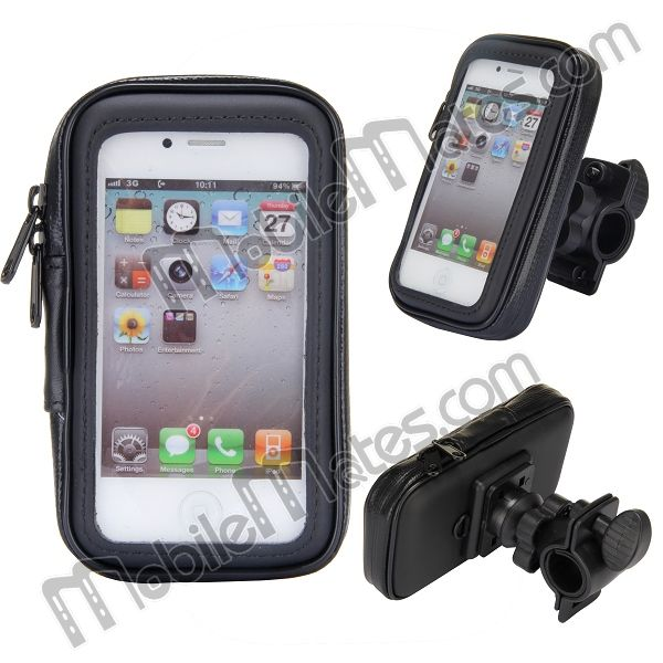 360 Degree Rotate Waterproof Bike Case Mount Stand Holder with Zipper For iPhone 5