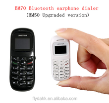 Latest smallest BM70 0.66 OLED BT GSM Mini Mobile Phone Hands free GSM mini cell phone BM70