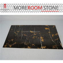 Hot Sales Polished Portoro Gold Marble Floor Tiles