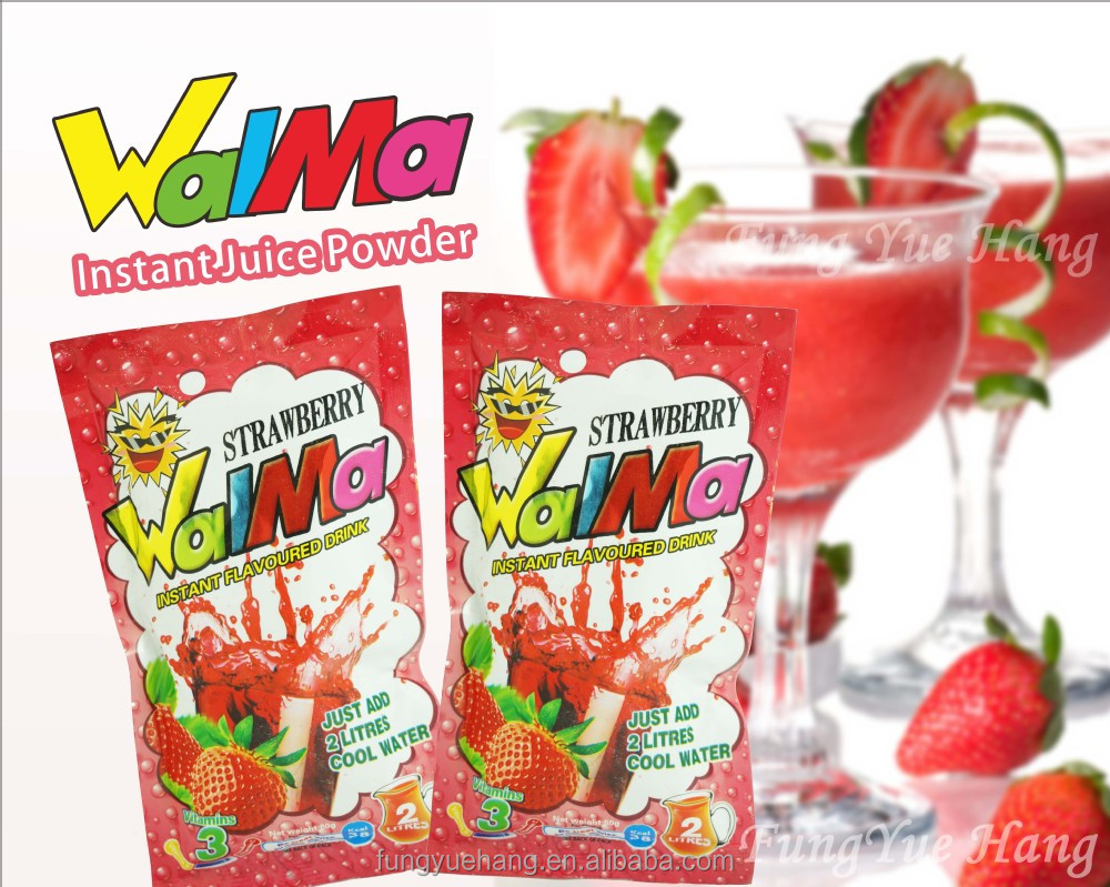 Instant Fruit Juice Strawberry Powder Flavor Drink