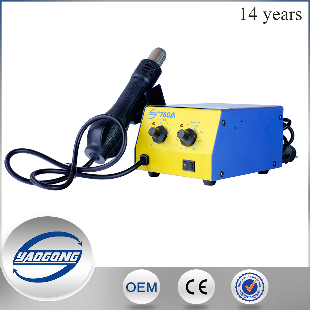 2017 new Cell phone repair tools YAOGONG YG-760A smd hot air rework station welding machine mobile phone repair tools