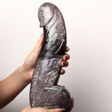 Natural Fluorite Genital Carving Crystal Dildo Artificial Penis For Women