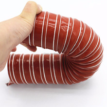 "High Quality 90mm 3.5"" Silicone Air Ducting Flexible Brake Cold Induction Intake Pipe Hose"