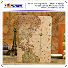 World map PU leather Cover Case for APPLE iPad Air with Stand function