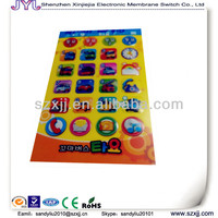 off-set print screen membrane stickers made in china for toys parts