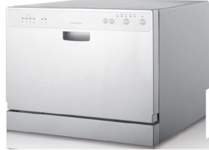 Automatic white mini Dish Washer
