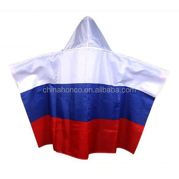 Football fan body flag with hat/russian body flag with hat