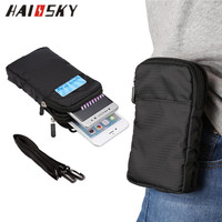 HAISSKY Running Waist Bag Waterproof Wallet Case For iPhone 6 6s 7 Plus Samsung Galaxy S8 Plus for mi6 for HW P9 P10 Plus