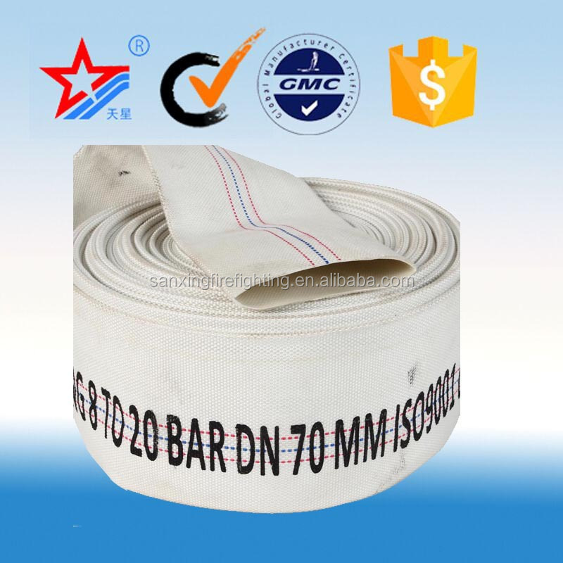 High quality Pvc mix Rubber lined fire fighting hose