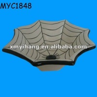 Ceramic candy plate halloween spider