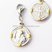 China supplier 2 tone san benito jewelry religious italian charm