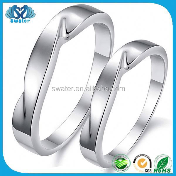 Free Shipping White Gold Plated New Design Rings Silver Jewelry