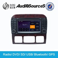 mercede w220 support canbus with Gps TV 3G USB TMC Canbus Mp3 Aux-in Rca-out
