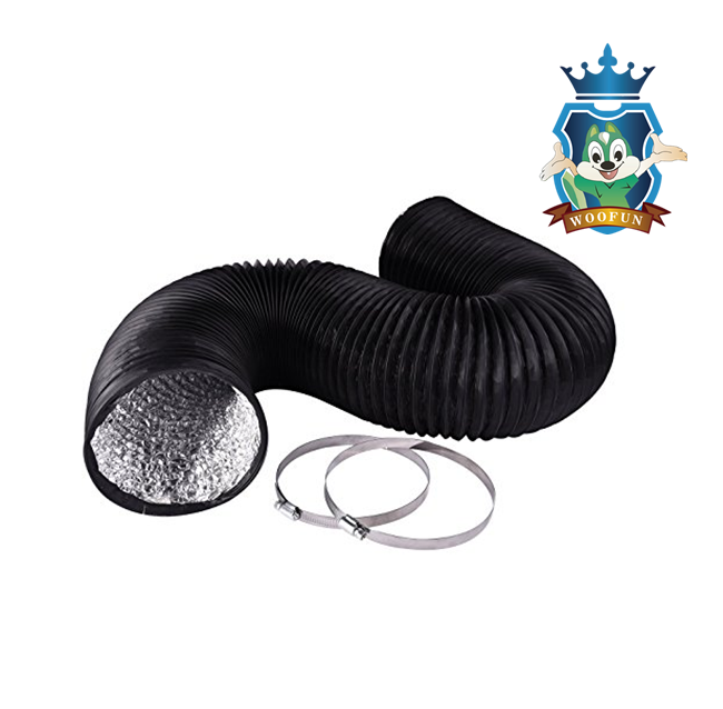 Excellent resistance flexible PVC aluminum collapsible ventilation air duct with many colors