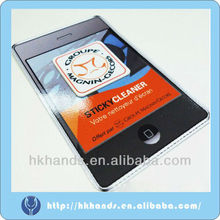 mobile screen cleaner/3D cell phone sticker/mini screen cleaner