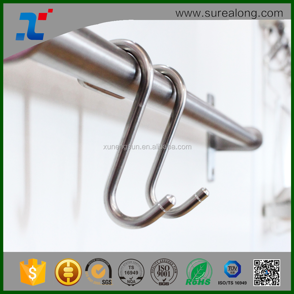 Kitchen accessory Stainless S Hooks Kitchen Pot Pan Hanger Clothes Storage Rack Metal hook