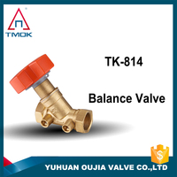 Water Balancing Valve DN15 Brass Balance Valve Thread Material Hpb57-3 And 2 Way Motorized BSP Thread In TMOK