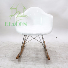 Hot Sale Fiberglass RAR Rocking Chair With White Color