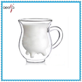High Quality Double Wall Glass Milk Cup