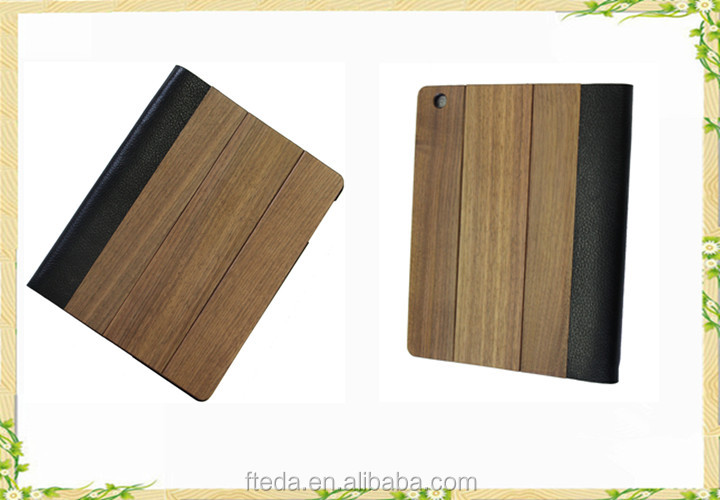 Perfect Christmas gifts wood genuine leather case for ipad pro