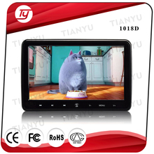 Headrest dvd player 10.1 inch with HDMI 1080P USB SD MP5 FM IR transmitter 32bit wireless games clip-on type