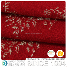 new products 2017 innovative product wool knitted custom embroidery fabric for coat