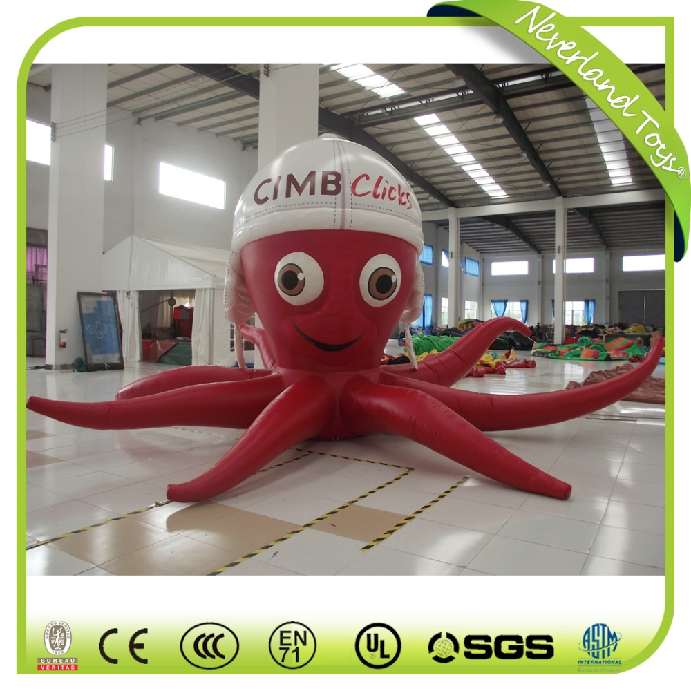 Funny Giant Octopus Advertising Inflatable , Inflatable Octopus Cartoon Character for sale