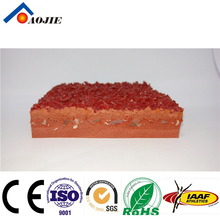 Mixed Type Synthetic rubber running track tartan track for Athletic field