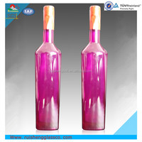 High quality pink glass bottles for alcohol