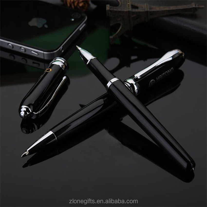 OEM wholesale black metal pen set/advertising ball pen promotional