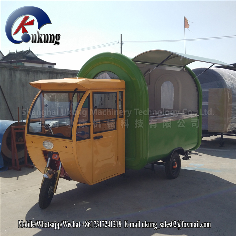 UKUNG Electric China Mobile Food Cart Bike And Mobile Food Truck With Three Wheels For Sale