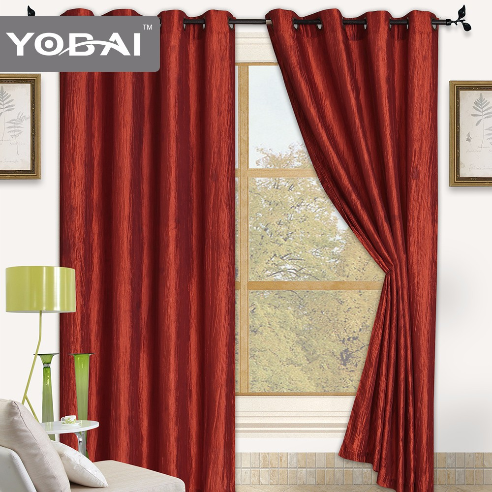 100% Polyester Thermal Insulated Window Blackout Curtains Design
