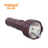 Low price high power rechargable led light torch with ABS material