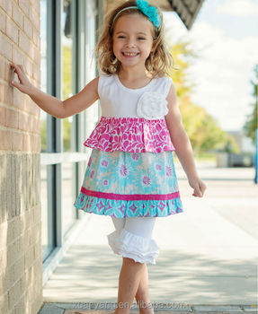 wholesale children's boutique clothing baby girls short ruffle pants and sleeveless valentine dress shirt outfits sets in china