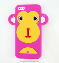 Alibaba wholesale cheap 3d cartoon phone case, silicone animal shape cell phone case