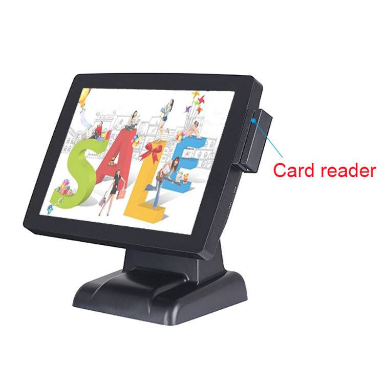 Promotional 1024 x 768 Pixels Card Reader all in one pos terminal