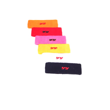 Sports use embroidered custom terry cloth wristband