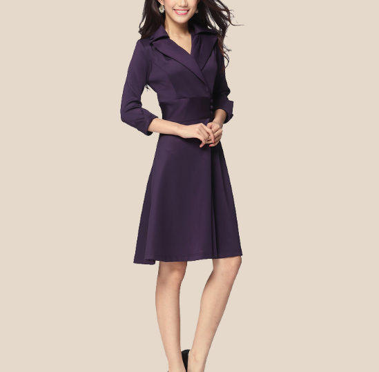 W70863G 2015 v-neck latest woman dress design office formal lady dresses lady fashion dress with elegant in plus size