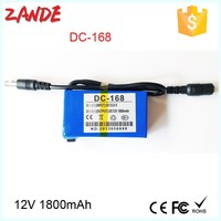 Super lithium polymer battery 12V 1800mah for CCTV Camera/led light