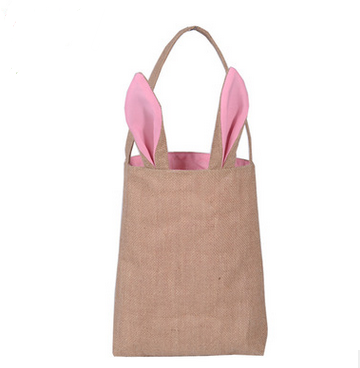Easter gift bag classic rabbit ears canvas cloth bag put easter eggs for kids Easter Sunday Decoration