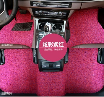 high quality fashion thicken pink grey beige customized car floor mats for all car models