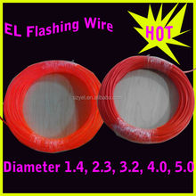 Smart EL wire with plastic Sewing edge 6mm easy to fix new color orange yellow
