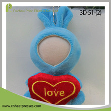 Prior Hold heart Rabbit Funny DIY Photo Face Toy 3D Printer Doll
