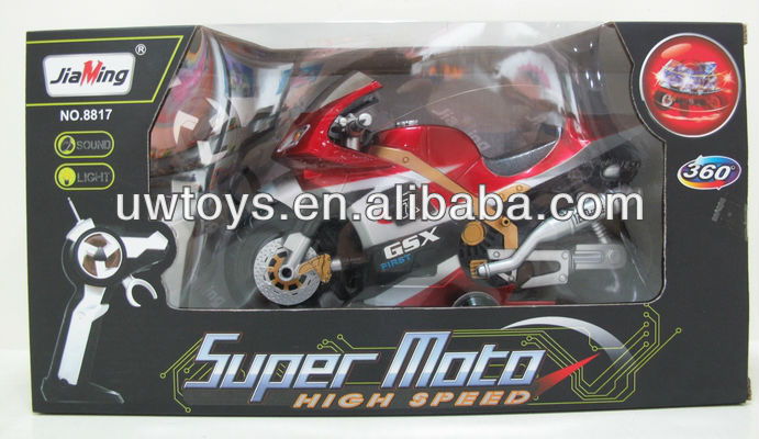 rc motorcycle with music and light