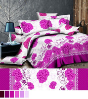 125gsm stitching two sides like duvet cover 100% polyester 3d fabric/ bedsheet with brushed very soft for bedsheet
