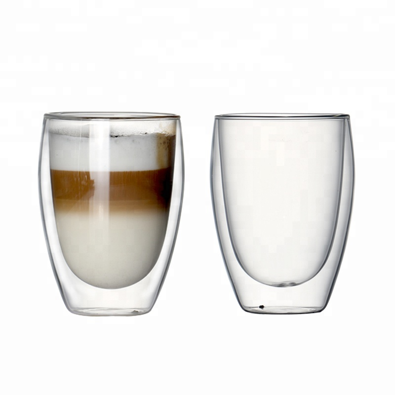 Custom logo reusable double wall glass <strong>coffee</strong>