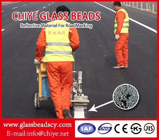 Drop on glass beads/ Intermix glass bead/ Hebei, China;high reflective glass beads/microspheres/for thermoplastic paint