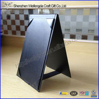 Double-sided Restaurant 4''X6'' Faux Leather Table Tent