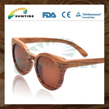 NATURAL PURE FASHION FDA CE ISO UV400 WOOD SUNGLASSES (WA45)