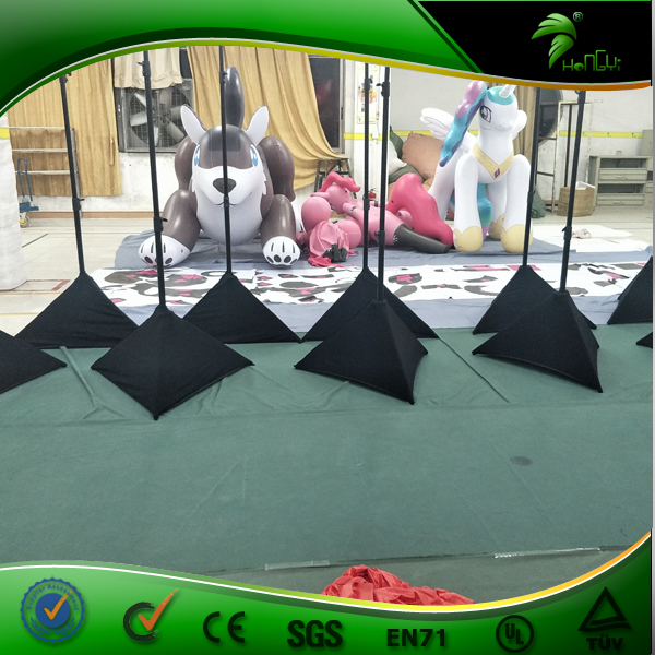Popular Sale Tripod Balloon Inflatable Events Decorations Standing Ground LED  Light Balloon